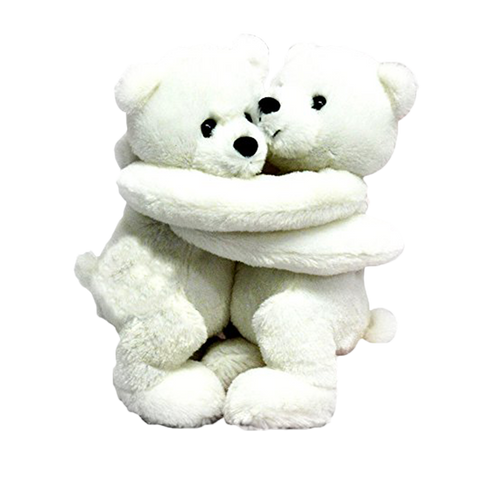 "Wishpets 10"" Hugging Polar Bears Stuffed Plush Toy"