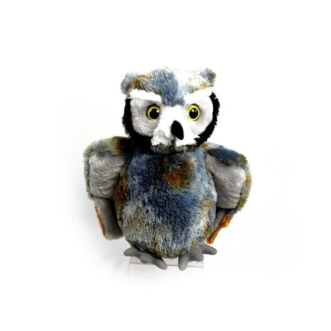 "Wishpets 11"" Floppy Grey Owl Stuffed Plush Toy"
