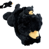 "Wishpets 12"" Pint-Sized Pals Black Bear with Baby Stuffed Plush Toy"