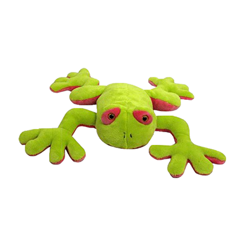 "Wishpets 10"" Floppy Yellow Frog Stuffed Plush Toy"