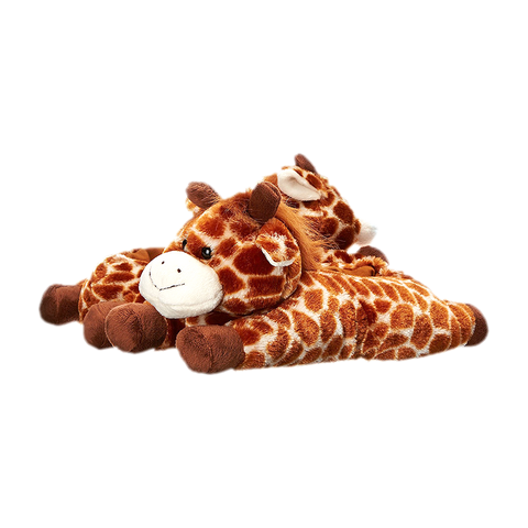 Wishpets Fuzzy Giraffe Animal Plush Slippers
