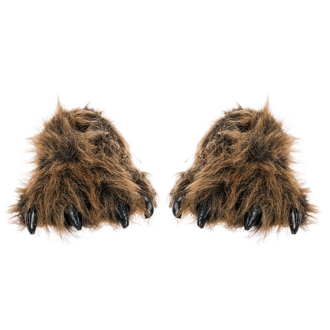 Wishpets Grizzly Bear Paw Fuzzy Slippers