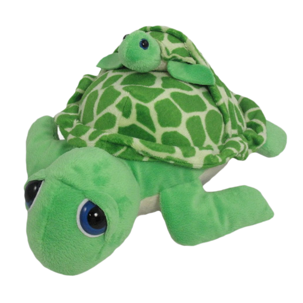 Wishpets 12 Pint Sized Pals Green Sea Turtle With Baby Plush Toy