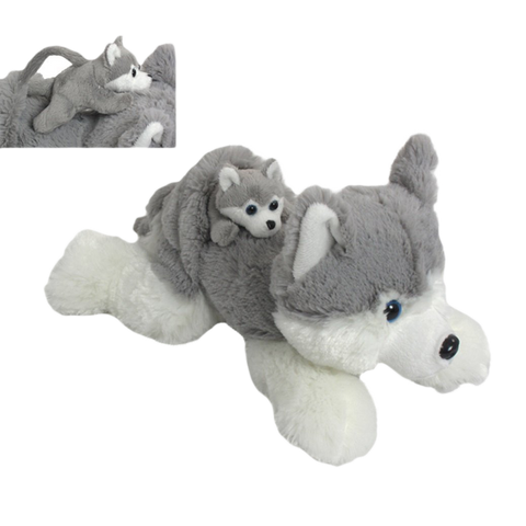 "Wishpets 12"" Pint-Sized Pals Husky with Baby Stuffed Plush Toy"