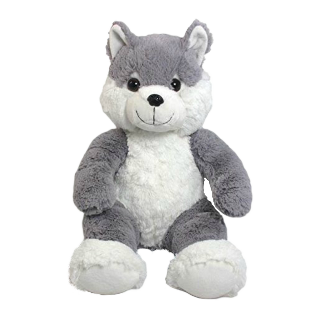 Wishpets 14 Floppy Sitting Wolf Stuffed Plush Toy Bold Home Products