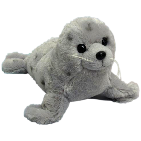 "Wishpets 15.5"" Floppy Grey Spotted Seal Stuffed Plush Toy"
