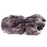 Wishpets Fuzzy Gray Wolf Plush Slippers
