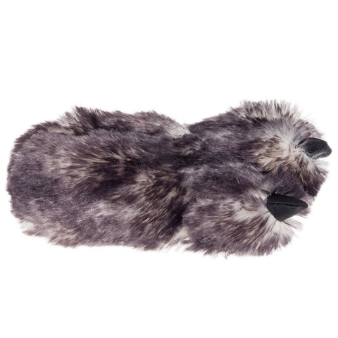 74217aee21da Wishpets Fuzzy Gray Wolf Plush Slippers – Bold Home Products