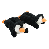 Wishpets Black Penguin Plush Slippers