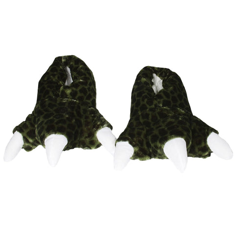 Wishpets Green Dinosaur with Sound Plush Slippers