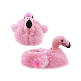 Wishpets Fuzzy Pink Flamingo Plush Slippers