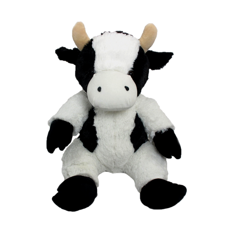 "Wishpets 14"" Floppy Black and White Holstein Cow Plush Toy"