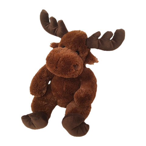 "Wishpets 14"" Floppy Sitting Moose Stuffed Plush Toy"