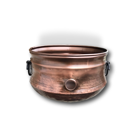 Handmade Copper Garden Hose Holder & Pot by Kauri Design