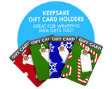 Wrapeez Reusable Stretch Fabric Gift Card Holders & Gift Tags