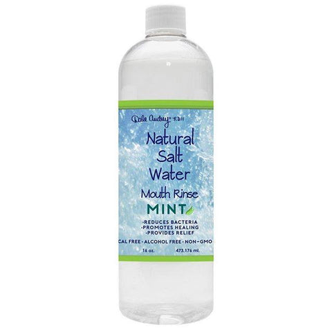 Natural Salt Water Rinse 16oz, Mint