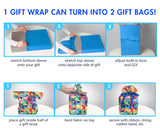 Wrapeez Reusable Stretch Fabric Gift Wrap (Set of 3)
