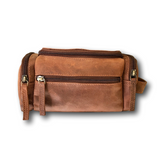 Handmade Leather Toiletry Bag and Multi-Purpose Dopp Bag by Kauri Design
