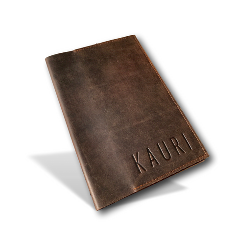 Leather Mini Organizer Case, Wallet & Organizer - Travel Journal Cover by Kauri Design