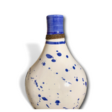 Handmade Modern Blue & White Ceramic Splatter Vase | Flower Vase and Decor Piece | Kauri Design