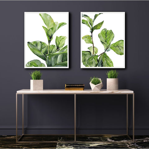 FIDDLE FIG I & II SET OF 2 20.5x16.5 FRAMED FINE ART PRINTS