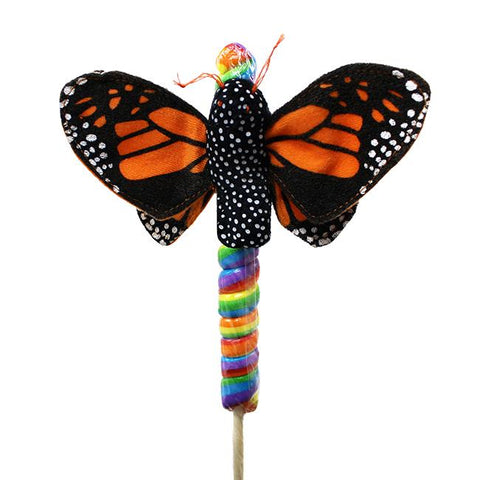 "4"" Orange Butterfly on Candy Pop"