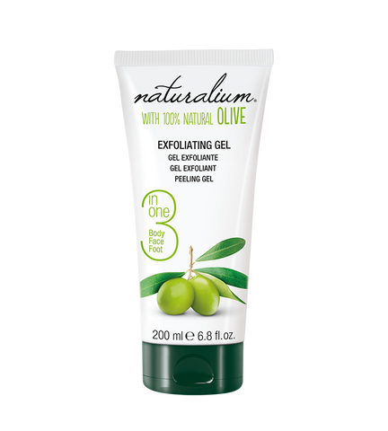 3 in 1 Exfoliating Gel for Body, Face, and Foot With Spanish Natural Olives by Naturalium