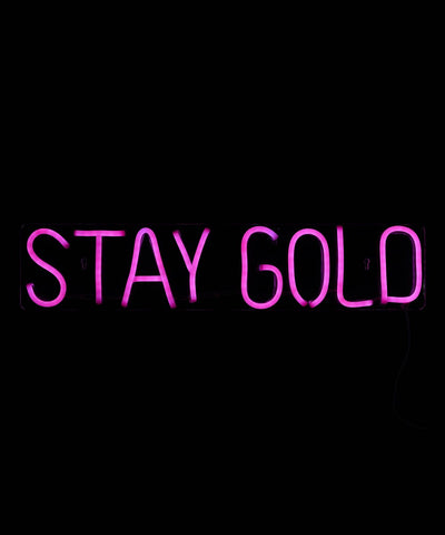 Cocus Pocus Stay Gold LED Neon Sign