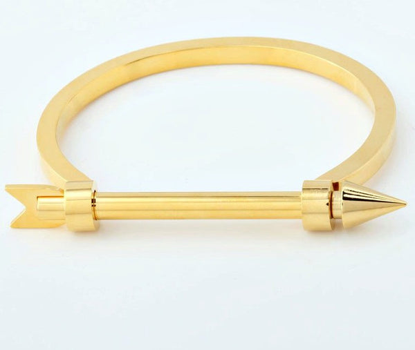 Modern Arrow Screw Cuff Bracelet - Best Seller! Gold, Rose Gold or Silver - La Petite Boheme