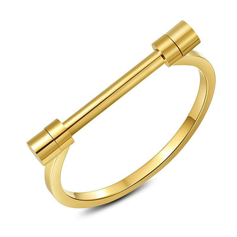 Modern Bar Screw Bracelet - Gold, Rose Gold or Silver