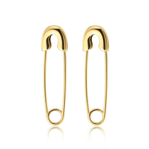 Modern Safety Pin Earrings - Gold, Rose Gold or Silver - La Petite Boheme