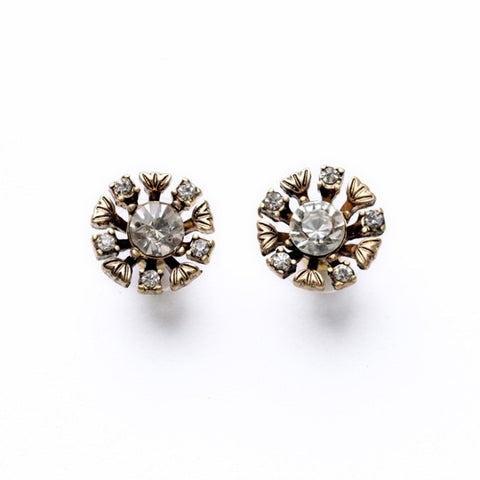 Miljana Crystal Antique Gold Studs - Best Seller