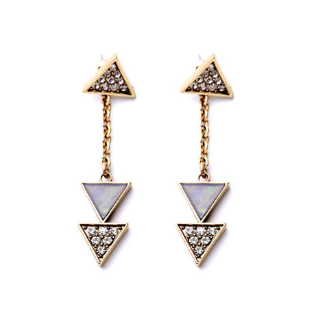 Lucy Triangle Convertible Earrings - La Petite Boheme