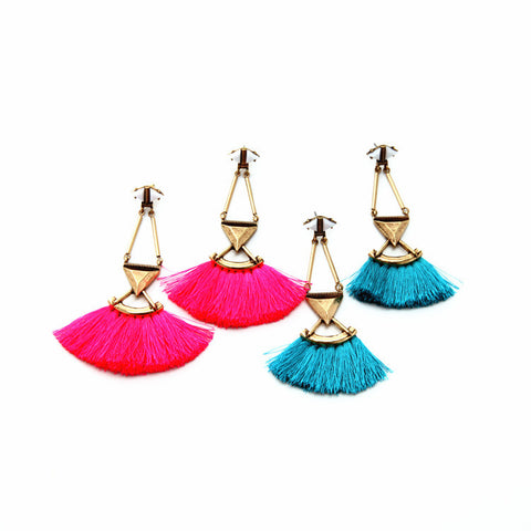 Brianna Tassel Fan Earrings - La Petite Boheme