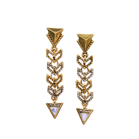 Melodie Geometric Statement Earrings - La Petite Boheme