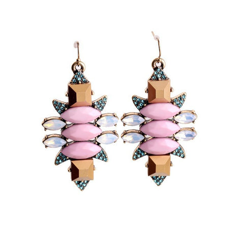 Coco Pink Jewelled Statement Earrings - La Petite Boheme