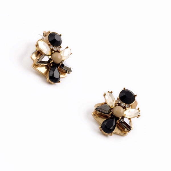 Candice Black Stone Crystal Statement Earrings - Best Seller - La Petite Boheme