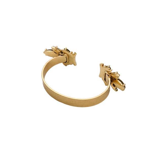 Gloria Jewelled Cuff Statement Bracelet - La Petite Boheme