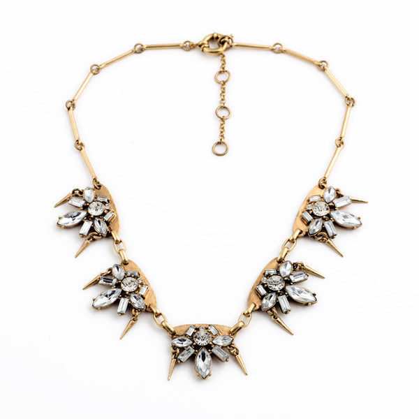 Taryn Clear Crystal Choker  Statement Necklace - La Petite Boheme