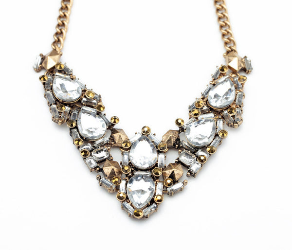 Luna Crystal Statement Necklace - La Petite Boheme