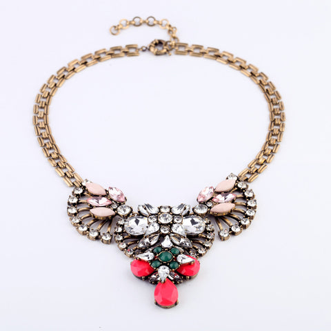 Camilla Multicolor Crystal Statement Necklace - Best Seller
