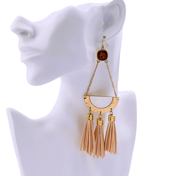 Zareta Boho Tassel Statement Earrings - La Petite Boheme