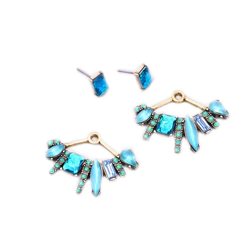Delaine Stud Ear Jacket Earrings - La Petite Boheme