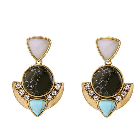 Cressida Statement Stone Earrings
