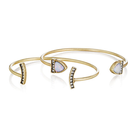 Carolyn Contemporary Cuff Bracelet Set - 2pc set - Best Seller - La Petite Boheme
