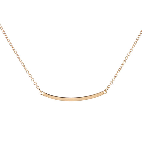 Dainty Curved Bar Necklace