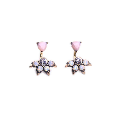 Cordelia Crystal Stud Ear Jackets Earrings - Best Seller! - La Petite Boheme