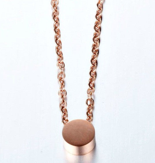 Modern Simple Geometric Mini Circle Necklace - Gold, Silver or Rose Gold