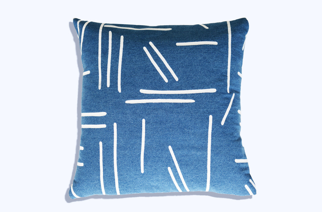 Abstract no. 2 - Pillow (blue)