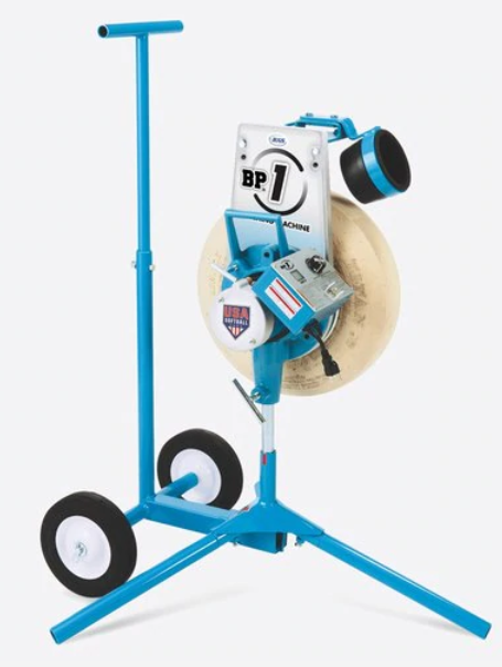 BP1 Softball Pitching Machine    NEW with cart